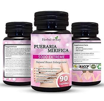 Pueraria Mirifica Capsules 5000mg - Natural Breast Enhancement Pills for Women - Breast Enlargement Pills - Breast Growth Vaginal Health Menopause Relief Skin & Hair Health 90 Vegetarian Capsules