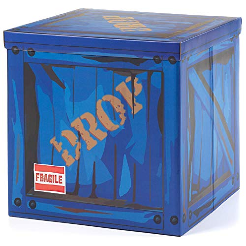 "Large Loot Drop Box Accessory (14"" x 14"" x 14"") - Goes with Merch Like Pickaxes, Guns, Costumes - Perfect Decoration Gift for Gamers, Boys, Parties"