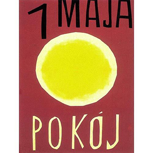 Wee Blue Coo Propaganda 1 maja Warszawa Pakt Polska 1960 artystyczny wydruk plakat dekoracja ścienna 30 x 40 cm