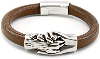 hand and paw leather bracelet