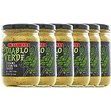 Diablo Verde Salsa, Award Winning Creamy Cilantro Sauce, Hot Heat Level, 12.5 oz bottle, Made with Cilantro, Garlic, Lime, Jalapeño Peppers, Vegetarian, Preservative-free, Soy-free, Egg-free (6-pack)