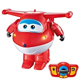 Super Wings - Jett teledirigido transformable, bailarín, con luz y...