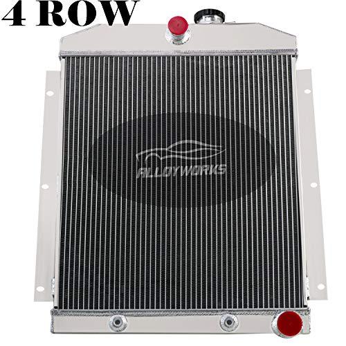 ALLOYWORKS 4 Row Core All Aluminum Radiator For 1947-1954 Chevy Chevrolet C/K 3100 3600 3700 3800 3900 Pickup Truck AT/MT