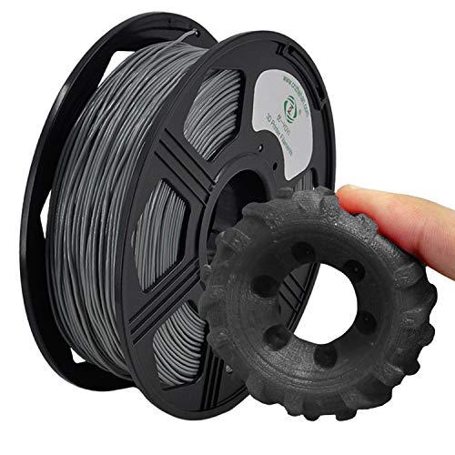 YOYI Filament TPU 1.75mm,TPU Filament 1.75mm,Flexible TPU 3D Drucker Filament 0.8kg,Maßgenauigkeit +/- 0.02mm (Grau)