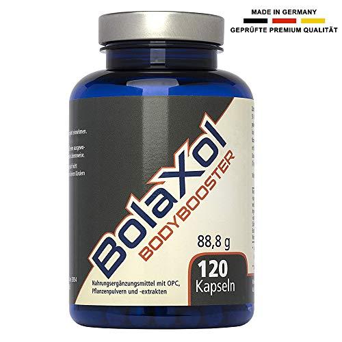 BOLAXOL Muskelaufbau Booster Komplex | Pillen extrem hochdosiert, vegan, rein pflanzlich, magensaftresistent | Laborgeprüft und ohne Zusätze hergestellt in Deutschland (120 Kapseln)