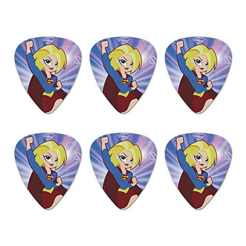 DC Super Hero Girls Supergirl Neuheit Gitarre Picks Medium Gauge-Set von 6