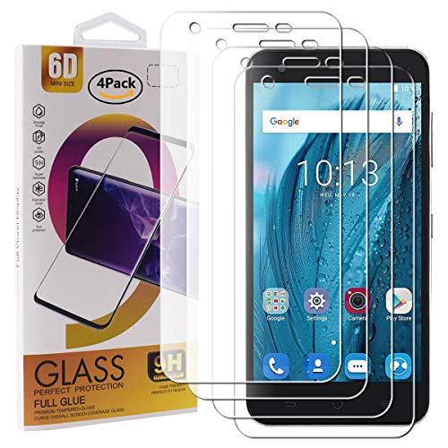 Guran 4 Paquete Cristal Templado Protector de Pantalla para ZTE Blade A506 Smartphone 9H Dureza Anti-Ara?azos Alta Definicion Transparente Película