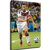 PLAZALA Leinwandbild für Wohnzimmer Miroslav Klose 2014