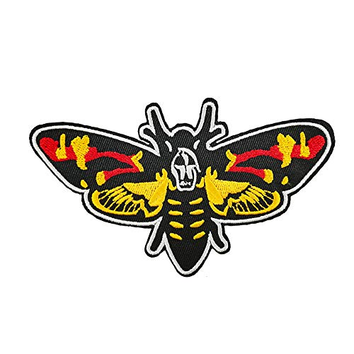 Silence of The Lambs Death's Head Moth Embroidered Iron On Patch T Shirt Transfer