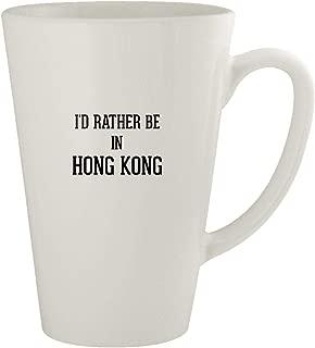 I'd Rather Be In HONG KONG - Ceramic 17oz Latte Coffee Mug