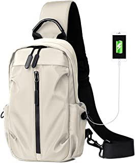 Sling Bagpack Sling Bag Crossbody Backpack for Women Men Waterproof Chest Shoulder Bag Daypack for Hiking Walking Biking T...