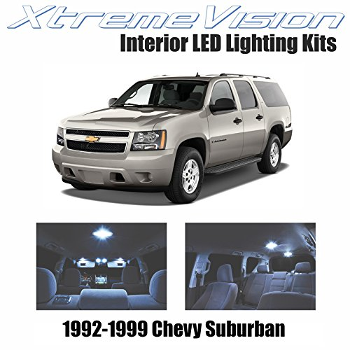 Xtremevision Interior LED for Chevy Suburban 1992-1999 (15 Pieces) Cool White Interior LED Kit + Installation Tool
