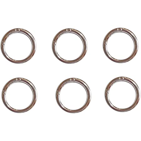 Details about  /Spring Bag Hook Round Carabiner Snap Clip Ring For Bag Accessories 15-50mm 4 Pcs