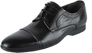 Salt N Pepper Black Real Leather Men's Lace Up Shoes