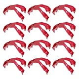 DOITOOL Food Finger Tongs, 12Pcs Prep Eating Trongs Guards for Eating/Snacking, Plastic Anti Scald Clips Finger Protector Covers for Kitchen, Dinner Utensil Accessaries