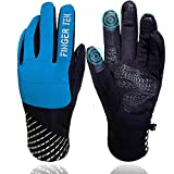 Winter Gloves for Men and Women Waterproof Touchscreen Non-Slip Snow Work Thermal Extreme Cold Weather (Blue, Small)