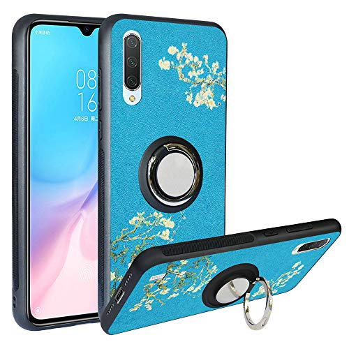 Alapmk Funda para Xiaomi Mi 9 Lite, Fashion Design [Antigolpes] con 360 Anillo iman Soporte, Resistente a los arañazos TPU Funda Protectora para Xiaomi Mi CC9 /Mi A3 Lite,Flower