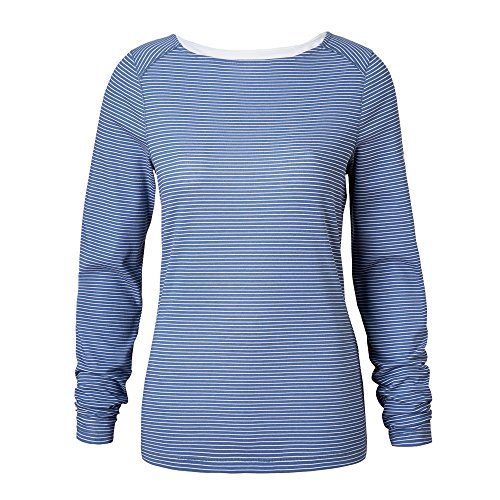 Craghoppers NosiLife Erin Long-Sleeved Top, 16 UK Damen, Soft Denim Stripe 1SS