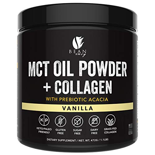 MCT Oil Powder with Collagen and Prebiotic Acacia - Pure MCT