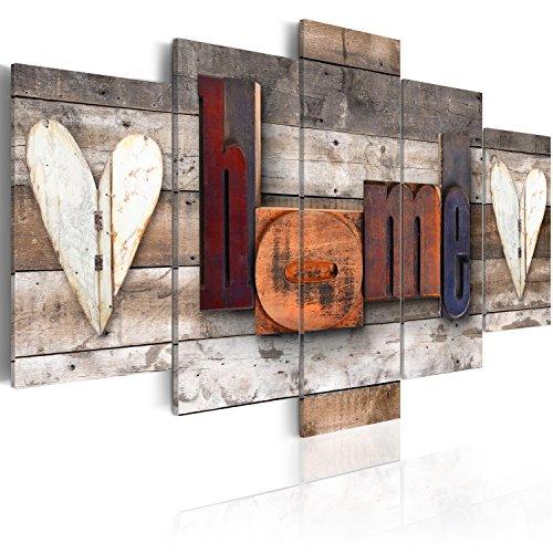 murando Cuadro en Lienzo Home 200x100 cm Impresión de 5 Piezas Material Tejido no Tejido Impresión Artística Imagen Gráfica Decoracion de Pared Tablas m-C-0252-b-m