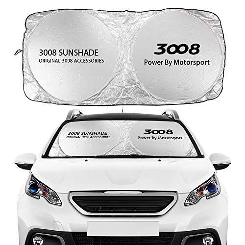 Parasoles de coche Accesorios para automóviles de parabrisas de auto para Peugeot 107 108 206 207 208 306 307 308 407 408 508 2008 5008 RCZ 301 3008 Rifter Parasoles de parabrisas ( Color : For 3008 )