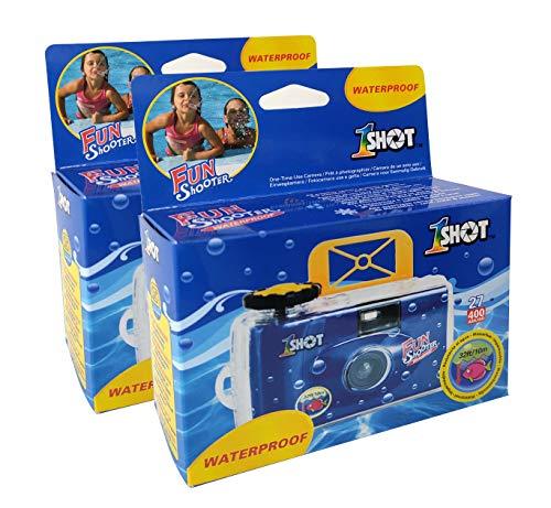 Disposable Camera Waterproof 35mm Underwater Film Single Use One Shot Fun Shooter 400 ASA/ISO 27 Exposures 2-Pack