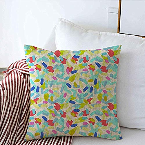 New-WWorld-Shop Kissenbezüge Wet Vintage Paint Strokes Gezeichnetes Muster Streifen Wand Hand Lebendige handgefertigte Spots Blobs Kissenbezüge