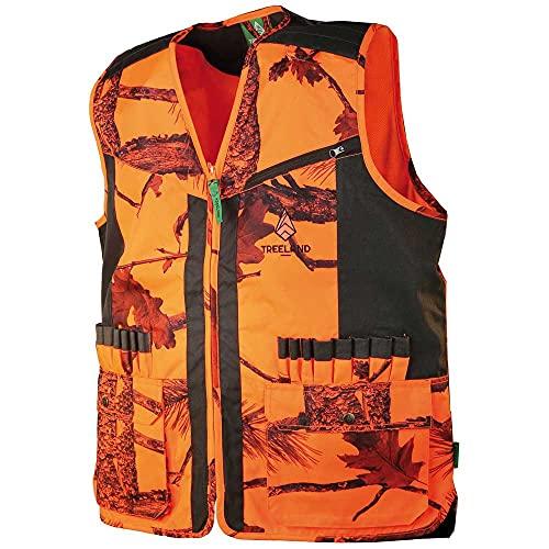 Chaleco caza camuflaje naranja Forest Treeland T254 (M)