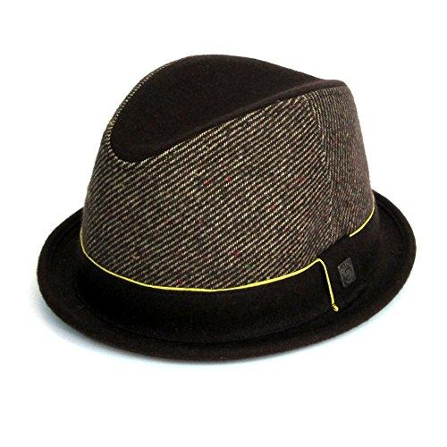 DASMARCA-Collection Hiver-Chapeau en Feutre de Laine Marron-Bruce-L