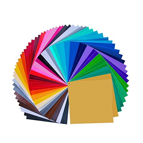 "68 Pack 12"" X 12"" Premium Permanent Self Adhesive Vinyl Sheets-Assorted Colors (32 Colour)"