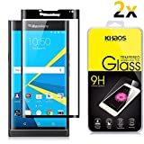 [2-Pack] KHAOS for 3D Full Cover Tempered Glass Screen Protector for BlackBerry Priv,