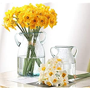 Olalalife 1pc Artificial Narcissus Flower Bouquet Home Decoration Fake Desktop Flowers Wedding Scene Decor