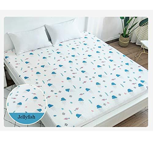 Waterdicht beddengoed Kingsize Bed Cover Queen Size Sheet Protector Volledige grootte Ademende Matress Pad Topper voor Home Hotel 120x200cm D