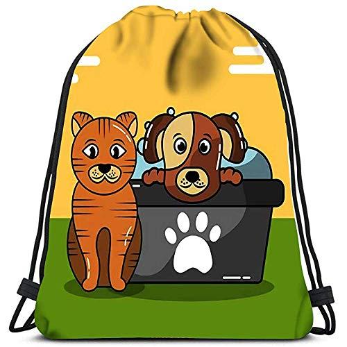 Medsforu Kordelzug Rucksack Taschen Hund Und Katze Pflege Badewanne Shampoo Folding Cinch Bag Taschen