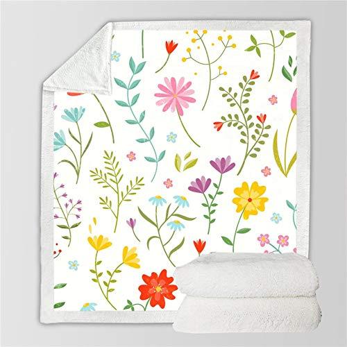 HUDNNFO Exquisito Serie de Girasol Doble Gruesa Capa de impresión en 3D Manta del sofá de la Cubierta de la Plaza Manta Manta de Felpa para sofá Cama (Color : 7, Size : 150X130)