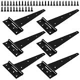 Bisagras en T de acero inoxidable para puertas, ventanas, armarios, cajones, 6 unidades con 38 tornillos de acero inoxidable