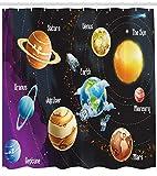 123456789 Sonnensystem der Planeten in Milchstraße Venus Neptun Bild Duschvorhang