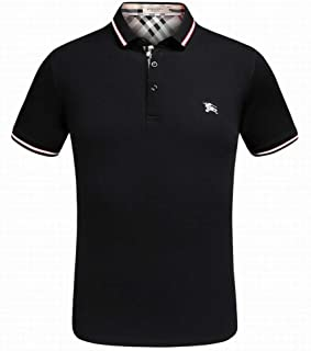 Burberry Mens logo-print pearl-mesh cotton polo shirt
