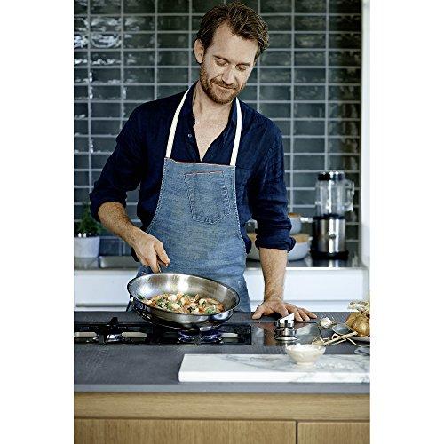 WMF Uncoated Profi Cromargan Frying Pan, 47.2 x 30 x 7.5 cm, Silver