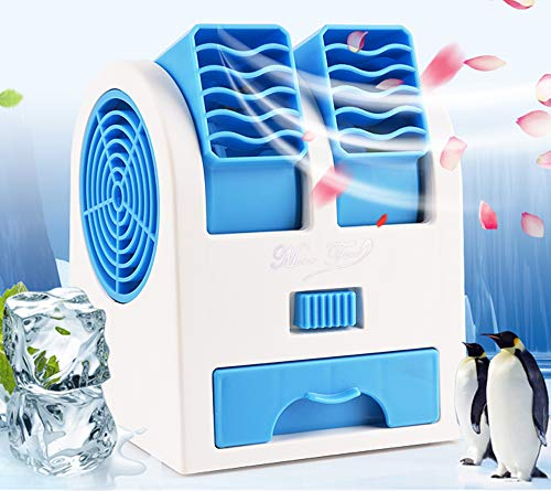 Aire Acondicionado Móvil, Climatizador Portátil, (Tuyere Ajustable) Mini Ventilador Enfriador, 3 en 1 Espacio Personal Enfriador de Aire Humidificador y Purificador, para Hogar/ Oficina/ Sala/
