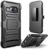 E LV Holster case for Galaxy S6 Edge Plus - Shell Holster Combo with Belt Clip and Kickback Stand - case Cover for Samsung Galaxy S6 Edge Plus