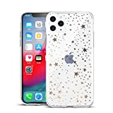 Yunguzi Clouds Compatible iPhone 11 Clear Case/iPhone 11 Case for Girls Glitter Silver Pattern Soft Flexible Durable Slim TPU Phone Cases for Apple iPhone 11-Star