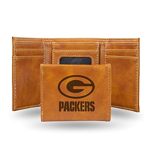 NFL Rico Industries  Laser Engraved Trifold Wallet, Green Bay Packers