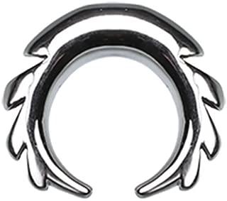 Sawtooth Pincher Steel Ear Gauge Buffalo Taper