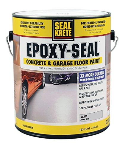 Seal-Krete 921001 Epoxy-Seal Concrete & Garage Floor Paint, Gallon, Armor Gray