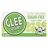 Glee Gum All Natural Lemon Lime Gum, Non GMO Project Verified, Sugar Free, Eco Friendly, 16 Piece Box, Pack of 12