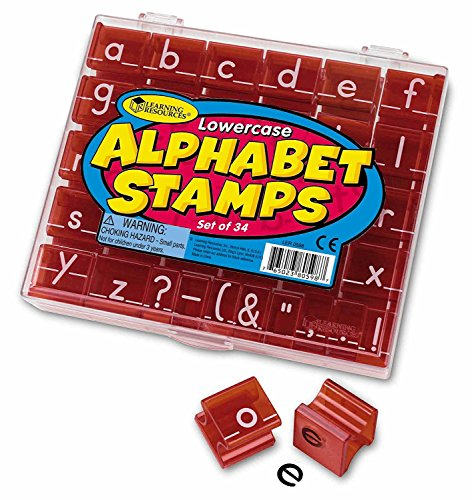 Learning Resources Lowercase Alphabet Stamps, Classroom Supplies, Alphabet Stamps for Kids, Teacher Accessories, Letter Learning, Stamps, 34 Pieces, Ages 3+