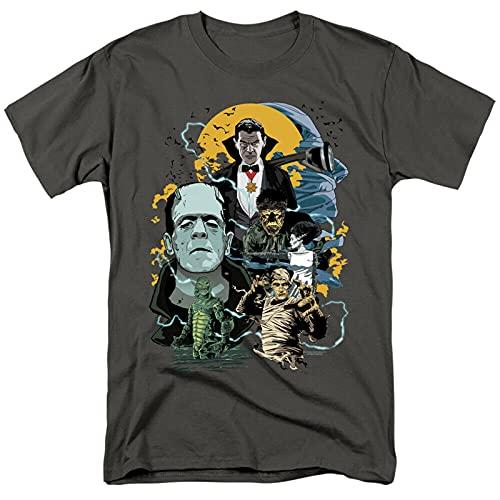 YoGos Universal Monsters Monster Mash Dracula Frankenstein T-Shirt Black L