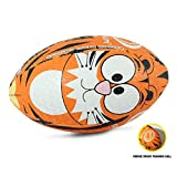 OPTIMUM Ballon de Rugby, Tigre, Mini Unisex-Youth, Multicolore