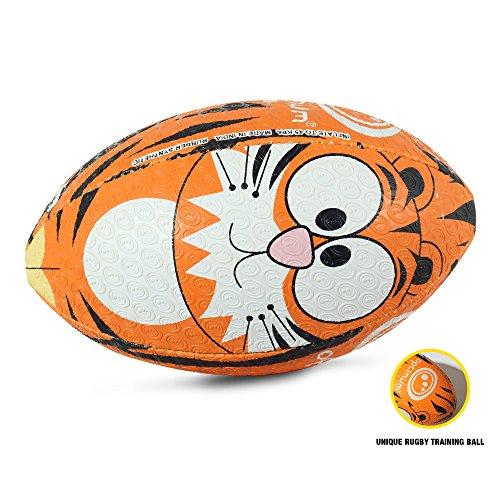 OPTIMUM Unisex-Adult Rugby Ball, Tiger, Größe 5, Mehrfarbig, 5